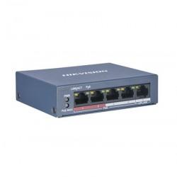 HIKVISION DS-3E0105P-E/M SWITCH 4 POE +1 (potencia 38w)