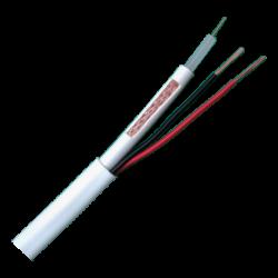Cable minicoaxil RG59  + Alimentación (Blanco/Negro) x bobina 305m