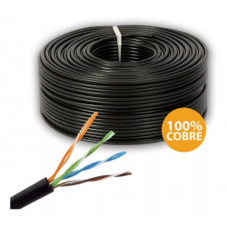 Cable UTP exterior Cat5e FIRENET 100% cobre x rollo 100 mtrs