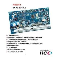 DSC-NEO HS2032PCBARG PANEL 8 ZONAS EXPANDIBLE A 32 (solo placa)