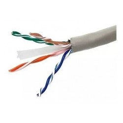 CABLE UTP CAT 6 interior HellermannTyton GRIS x metro