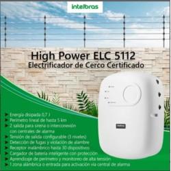 Central Cerco Electrico Intelbras ELC5112 c/remoto 5km