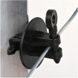 Aislador Doble Pin-Lock St. Negro PEAD+UV
