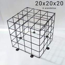 Jaula de proteccion mediana 20x20x20 cm (agarre arandela)