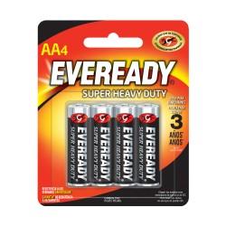 Pilas AA Eveready X 4 Unidades