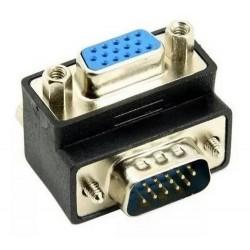 Adaptador VGA Macho a VGA Hembra Codo L 90°