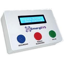 Central de alarma comunitaria con botonera y display Emergsys