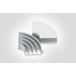 Accesorio Curva Plana FDCP Marfil Hellermann Tyton (separador y tapa)