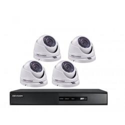 Kit Hikvision DVR 4Ch + 4 Minidomo Metálicos 1 Mpx