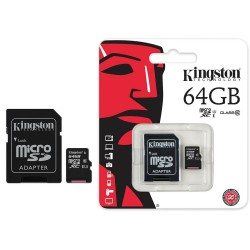 Tarjeta SanDisk microSDHC 64GB c/adaptador